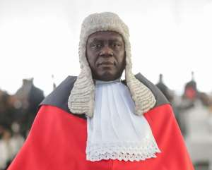 Chief Justice Anin-Yeboah was sworn in at the Jubilee House on Tuesday