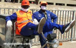 Zoomlion staff in Tamale down tools