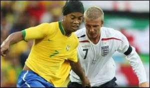 Ronaldinho excited by Becks