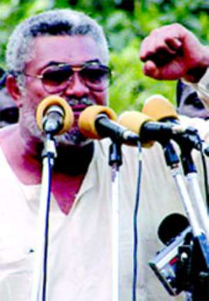 Rawlings prophesies NDC's victory and says:December 7 is Ghana`s day of liberation…As he pulls massive crowd in Kumasi