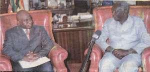 President Kufour Receives Liberian Minister