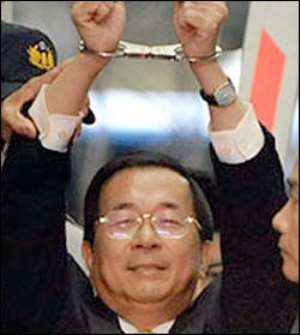 Former Taiwan President Detained