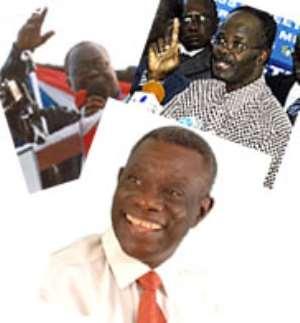 Atta Mills leads 53.6%, Akufo-Addo 42.0% in latest polls