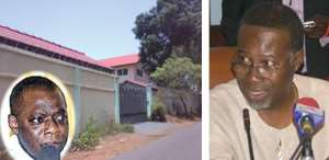The controversial office of Ex-President Kufuor INSET: Mr. Frank Agyekum (left) Dr. Don Arthur - Chairman of Assets Committee of the Transitional Team (right)