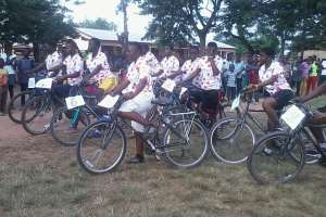 Grass Track Cycling Competition Held At Apeguso In The Eastern Region