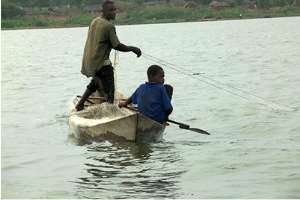 A Child Working On Lake Volta. Photo Taken By Eric Peasah