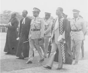 •	Acquaye-Baddoo With Late Gen. Kutu Acheampong During The Centenary Celebrations In 1976