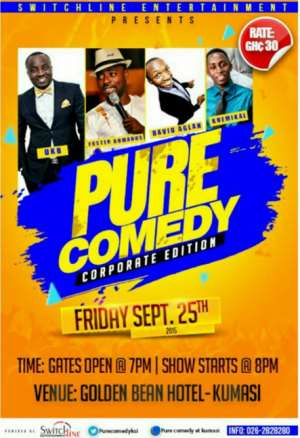 Pure Comedy: 4 Of Ghana's Best Stand-Up Comedians To Rock Ashanti