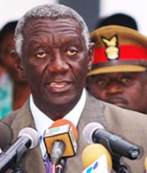 Kufuor, Government tango over state vehicles