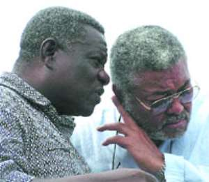 FLASH BACK:President Atta Mills in tete-a-tete with Ex-President Rawlings