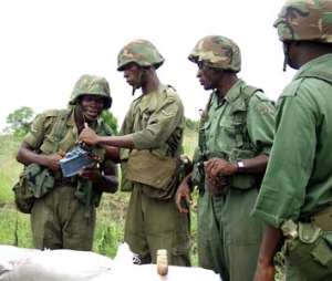 Ghana/NATO troops in joint military exercise