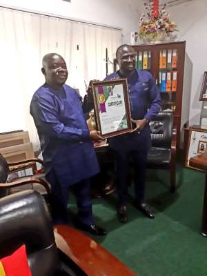 CEO Of National Food Buffer Stock Company Honoured