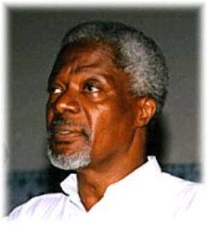 Annan urges world leaders to enforce the rule of law