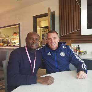 CK Akonnor Visits Amartey At Leicester City; Holds Talks With Manager Brendan Rodgers