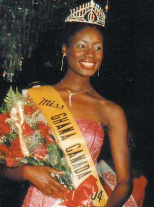 Miss Ghana-Canada on a duty tour to Ghana