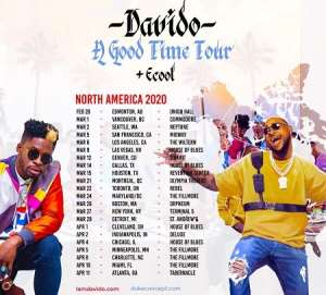 Davido To Tour 22 Cities In North America