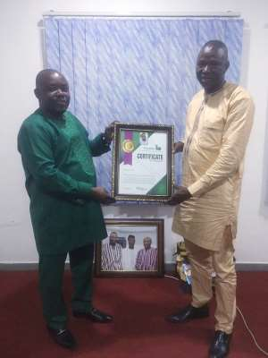 Chairman Samba Wins Best Regional Chairman Award