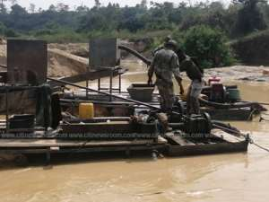 Atwima Mponua: Small Scale Miners Arrested Two Illegal Miners, Equipment Seized