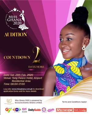 Miss Ghana Audition Holds On Saturday
