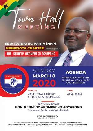 Kennedy Agyapong Storms Minnesota, USA