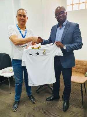 Delegation From Spanish La Liga Side CD Leganes Visits GFA