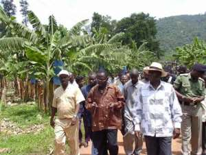VEEP inspects reforestation project