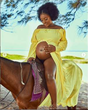 Yvonne Jegede shares beautiful photos from her maternity shoot