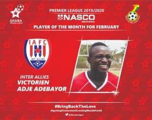 Adebayor Wins GPL NASCO Player Of The Month Award For February