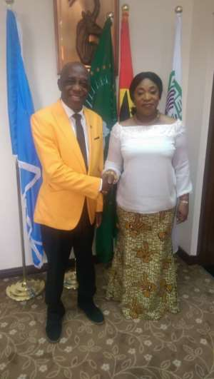 Dr. Thomas Mensah Meets Foreign Affairs Minister Ayorkor