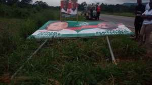 NDC Warns NPP Over Night Destruction Of Billboards, Posters