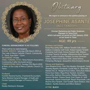 The late Josephine Asante