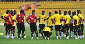 Black Stars team during training