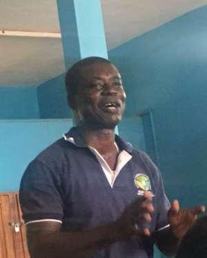 Mr. John Annorkwah, Crop Officer of the Birim Central Municipal Agric Directorate