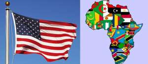 America and African countries flags