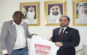 Ambassador Khalifa Al-Zaabi (left) with Mr Yahya Alhassan, CEO of Humanity Magazine International
