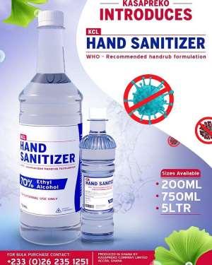 Kasapreko Company Halts Production Of Drinks, Produces Hand Sanitisers