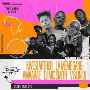 Kwesi Arthur, La meme gang, Quamina MP and others perform at Boiler room x Ballantine's True Music A