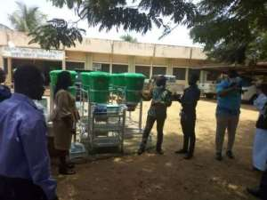 Woyome Donates PPE To South Tongu District Health Directorate
