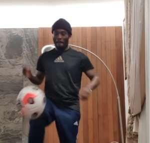 Watch Michael Essien's Amazing Skills As He Joins The #StayAtHomeChallenge