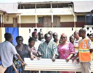 Akuapem North MP Supports Schools Affected By Rainstorm