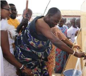 Nii Amasah Oseiku II, happy to see water flowing through the taps