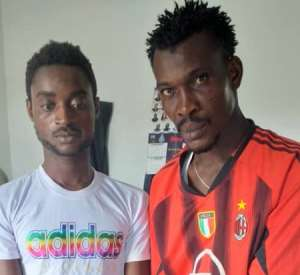 Abass Musah( right) and Ofoso Emmanuel