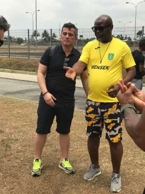 Blessed Stars Football Academy Donates Hand Sanitizers And Facemask To Ghana