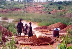 Mining In The Ghanaian Forest Reserve