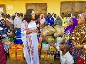 Felicia Konaah Tetteh Making A Donation In Her Region