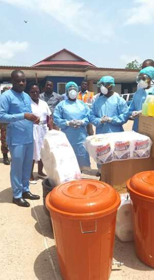 Covid-19: Kwahu East District Assembly Donates To District Health Directorate