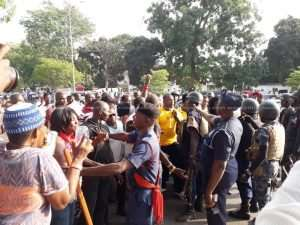 NDC Supporters Block Roads To Demand Ofosu Ampofo's Release