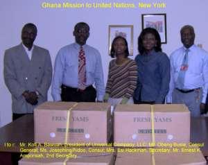 Universal Donates Fresh Yams To Ghana Mission