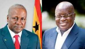 Former President Mahama and Prez Akufo-Addo