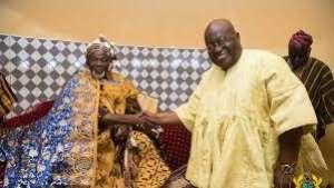 President Nana Akufo-Addo (right) and Ya Naa Abukari Mahama II